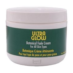 Ultra Glow Botanical Fade Cream with sunscreen for All Skin Types 3.6oz by Ultra Glow. $6.49. for all skin types. size: 3.6oz. Ultra Glow Botanical Fade Cream is light vanishing fade cream with sunscreen.  The new advanced Botanical formulation(5%0 safely lightens skin discoloration, spots, and blotching while keeping your natural skin tone.  Sunscreen provides valuable protection from the damaging effects of the sun.  Give your skin a soft, supple and mor beautiful glow with the...