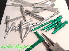 Riciclare...con fantasia: orecchini stalattiti ...perle di alluminio 2