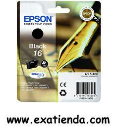 Ya disponible CARTUCHO EPSON C13T162140 NEGRO                             (por sólo 10.71 € IVA incluído):   - Compatible con impresoras Epson: Epson Workforce WF-2010W Epson Workforce WF-2510WF Epson Workforce WF-2520NF Epson Workforce WF-2530WF Epson Workforce WF-2540WF  - Color:Negro - 5.4ml, 175 páginas, estándard   Garantía de fabricante  http://www.exabyteinformatica.com/tienda/2064-cartucho-epson-c13t162140-negro #epson #exabyteinformatica