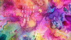 Cuadro abstracto Mixmedia tintas colores
