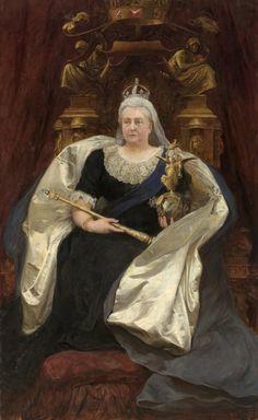 1891 - 'Queen Victoria', by Hubert von Herkomer (German born British painter, Waal Bavaria, 1849-1914)
