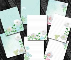 Watercolor Icelandic Poppy | Printable Stationery|  Digital Printable Stationary | Writing Paper| Template | Note Paper by PrettyDigiDesigns on Etsy