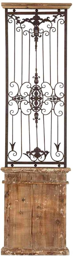 Rustic gate wall sculpture or outdoor trellis. Old weathered look. Almost 6 feet tall perfect for vines and creeping plants.