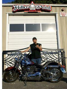 Time Bandit Captain, John Hillstrand of the Deadliest Catch Deadliest Catch, Hot Bikes, Tv Shows, Airbrush Art, Celebrities, Biker, Motorcycles, Paint, Cars