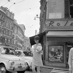 Audrey Hepburn in Piazza Di Spagna in Rome, Italy.