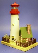printable plan to build the sandy shores lighthouse and keepers cottage