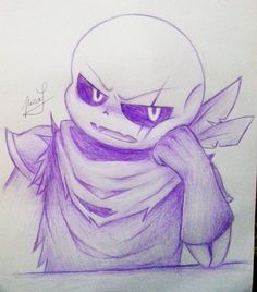Swapfell sans (one color contest entry in amino) by Neko-Priestess327 on DeviantArt
