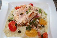 Seared Albacore Tuna Loin with AOOC EVOO-Cherry Tomato-Caper Compote ...