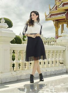Readymade Off White And Black Faux Georgette Kurti #partywear #georgette #beautiful#Trendy #top #kurti #kurta #readymade #printed #kurtionline #womenwear #womenclothing #nikvik #usa #uk #uae #freeshipping Sign up and get USD100 worth vouchers.Price-US$49.62.