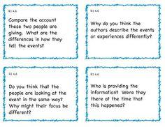 Common Core 4th Grade ELA Question Cards