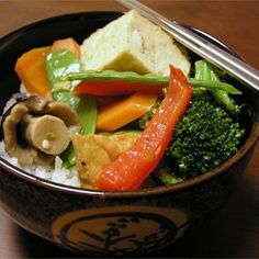"""Ginger Veggie Stir-Fry 
