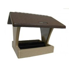 Birds Choice Recycled 4 Quart 2-Sided Hopper Bird Feeder - Brown Roof