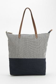 BDG Hopkins Stripe-Block Tote Bag #urbanoutfitters