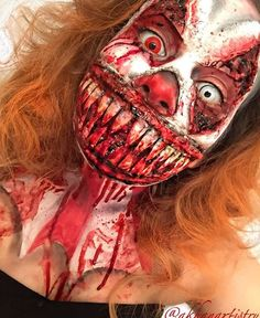 "3,052 Likes, 82 Comments - The Horror Gallery (@thehorrorgallery) on Instagram: ""Smile, and the world smiles with you ! Special effects makeup by @akhanartistry"""
