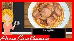 La meilleure recette de Cassoulet (Cookeo)! L'essayer, c'est l'adopter! 5.0/5 (3 votes), 6 Commentaires. Ingrédients: - 500 gr d'haricots blancs secs - 1 oignon - 1 gousse d'ail - 350 gr de lard fumé - 1 saucisse de Morteau - 2 saucisses de Montbéliard - 1 petite boîte de concentré de tomates - 1 cube de bouillon de poule - Du poivre de Cayenne - 1 L d'eau (+ 1,5 L pour faire tremper les haricots) - 1 saucisson à l'ail - 1 bouquet garni Chorizo, Sausage, Beef, Bouquet Garni, Food, Diners, Quiches, Youtube, Brioche