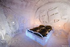 The Quebec Ice Hotel is a famous experience, but sleeping in the cold may not be for everyone. Learn more about this chilly stay. Ice Hotel Quebec, Quebec City, Jacques Cartier, Ice Hotel Sweden, Places Around The World, Around The Worlds, Hotel World, Sainte Catherine, Unique Hotels