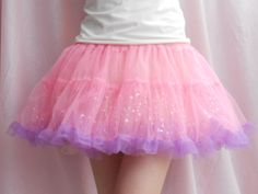 Super cute glittery Fairy Kei petticoat/skirt