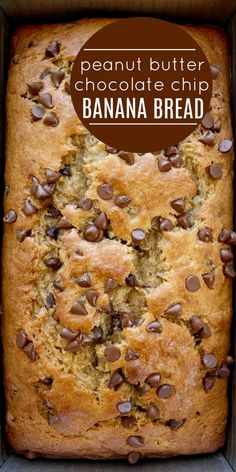 Chocolate Chip Banana Bread, Chocolate Chips, Banana Bread With Applesauce, Chocolate Art, Chocolate Peanut Butter, Delicious Desserts, Dessert Recipes, Yummy Food, Healthy Food