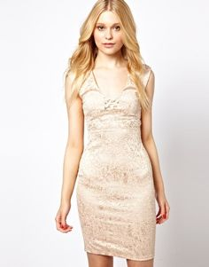Image 1 of River Island Lace Body-Conscious Dress
