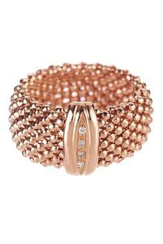 Rose Gold Mesh Ring