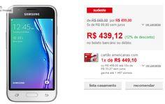 "Samsung Galaxy J1 Mini Android 5.1 Tela 4"" 3G Wi-Fi Câmera 5MP << R$ 39520 >>"