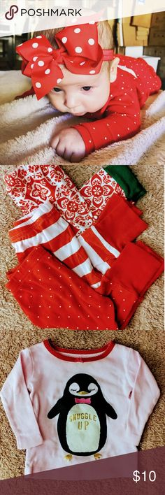 Set of Three Baby's First Christmas Pajamas Snuggle up with your little one all Christmas long in these two piece panama sets. Includes Baby's First Christmas Santa hat OshKosh B'gosh Intimates & Sleepwear Pajamas