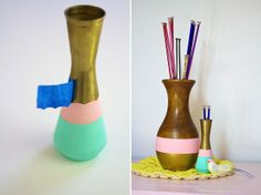 Ruffles And Stuff: DIY Painted Vases