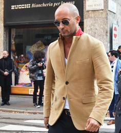 Milan Vukmirovic: nice khaki blazer!