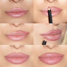 Every woman has a desire to having a perfect kissable and expressive lip like Angelina Jolie and other such famous personalities. Fuller and bigger lips do not only look gorgeous and enhance our beauty but they also look cute and define our face. Basic Makeup Tutorial, Lip Tutorial, Lipstick Tutorial, Make Lips Bigger, Gibson Tuck, Angelina Jolie Makeup, Lip Sence, Lip Contouring, Lip Injections