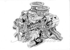 Engine Technical Drawing | engine drawing by ~todeletepress7 on deviantART