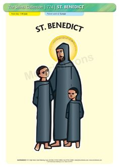 Youngest disciple of St. Placid - 5 October shown here standing with his older brother St. Maur and St. Poster On, Poster Prints, Patron Saints, A3, Banners, Brother, Friendship, October, Boards