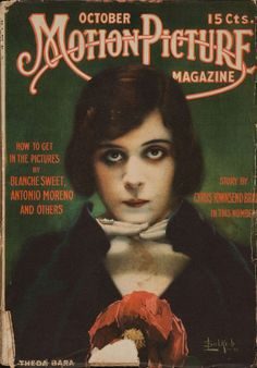 Theda Bara Cover 1916 Motion Picture Magazine.