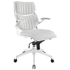 With its high-backed modern style the Escape Office Chair from Modway Furniture brings a swanky look and feel to your workspace. Featuring quality materials this well-made computer chair is comfy too.