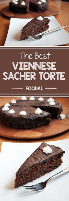 The Best Viennese Sacher Torte Recipe Austrian Desserts, Austrian Recipes, German Recipes, Austrian Food, Hungarian Recipes, Chocolate Butter, Melting Chocolate, Chocolate Ganache, Sacher Torte Recipe