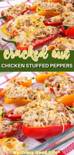 This healthy crack chicken recipe is so easy to make and perfect stuffed into mini peppers! This is a great 21 Day Fix dinner or appetizer and also works great for 21DF meal prepping! Sauce For Chicken, Crack Chicken, Chicken Recipes, Healthy Family Meals, Healthy Recipes, Family Recipes, Beachbody Meal Plan, Cooking Turkey Bacon, Greek Yogurt Chicken