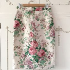Just off the machine and newly listed in the shop is this gorgeous linen pencil skirt made from Sanderson fabric. Available as a limited number of custom orders