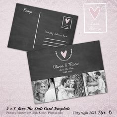X Save The Date Template  Photoshop Template  Std  Instant