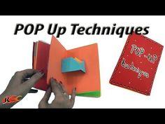 23 Pop ups card Techniques | DIY Popup Scrapbook | JK Arts 1389 #MothersDayCraft - YouTube
