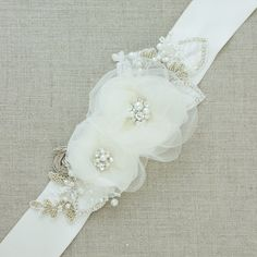 Hey, I found this really awesome Etsy listing at https://www.etsy.com/listing/129841915/floral-bridal-sash-wedding-belt