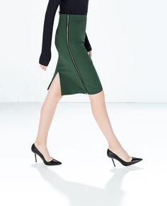 Image 2 of PENCIL SKIRT WITH SIDE ZIPS from Zara