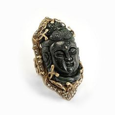 Deco Buddha Ring By Ollipop - Unique Vintage - Homecoming Dresses, Pinup & Prom Dresses.
