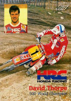 David Thorpe 3X wold champion 1985-86 y 89 Honda