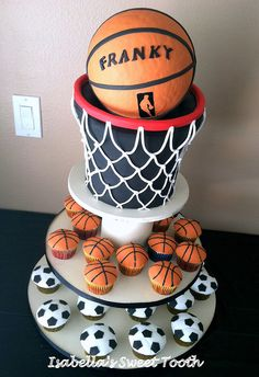 basketball net cake by Isabella's sweet tooth (johanna), via Flickr
