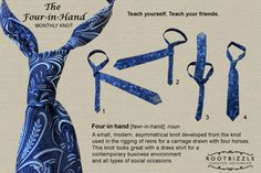 How To Tie A Tie - Quick And Easy Four-In-Hand Knot / DIY Tag on imgfave