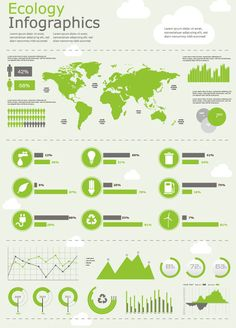 Green Map data Information Figure Free Vector, Graphics and Vector Art