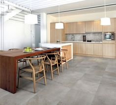 Kitchen Tiles, Pavement, Porcelain Tile, Terrazzo, Flooring, Interior Design, Country, Architecture, Table