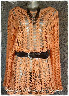 No Pattern. Crocheted Summer Top.