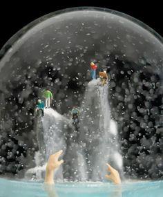 El escalofriante mundo de las bolas de nieve
