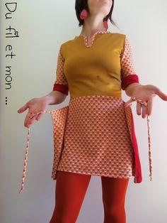 Du fil et mon...: Robe tablier 70's Apron Dress