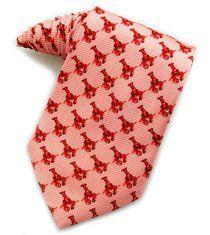 e4c3f8e9454f Men's 100% Silk Pink Red Lobsters Neck Tie Necktie Neckwear http://www